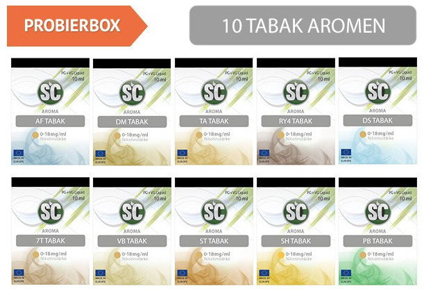 Liquid mit Nikotin Probierbox